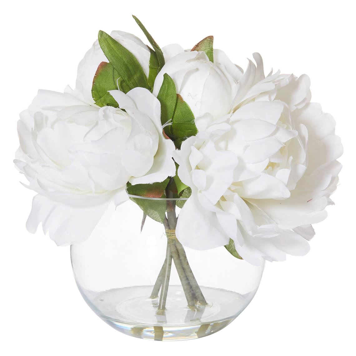 Peony In Vase Size W 22cm x D 22cm x H 20cm in White Plastic/Fabric/Wire Freedom by Freedom, a Plants for sale on Style Sourcebook