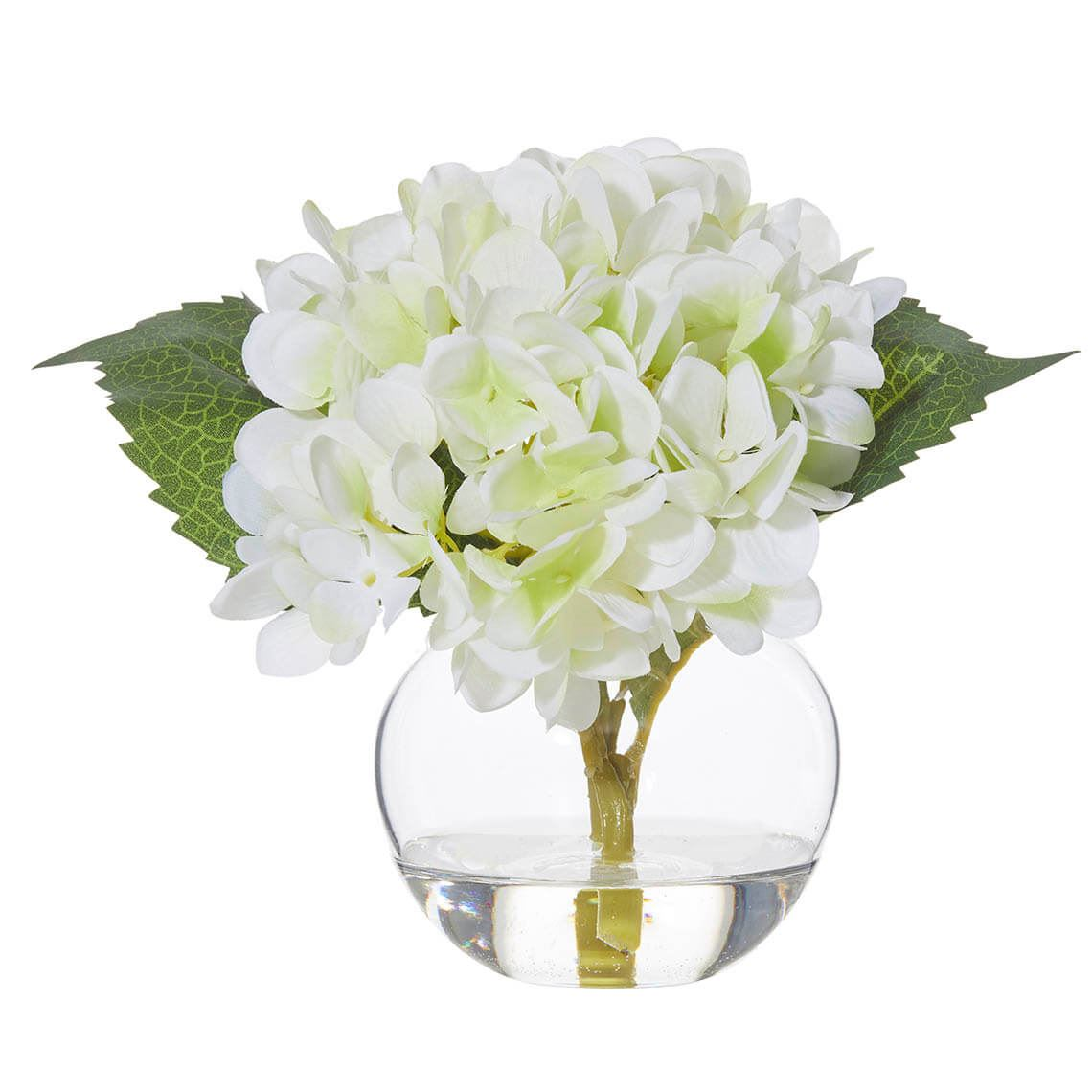 Hydrangea Vase Size W 20cm x D 18cm x H 17cm in White Plastic/Fabric/Wire Freedom by Freedom, a Plants for sale on Style Sourcebook