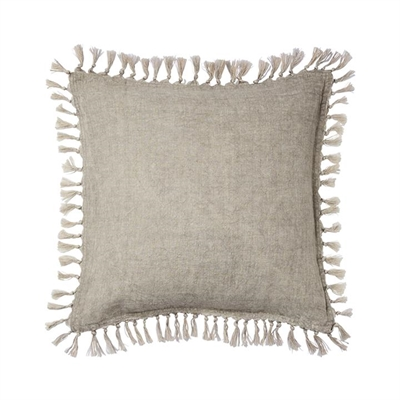 Home Republic Genoa Vintage Washed Linen Cushion Grey By Adairs by Home Republic, a Cushions, Decorative Pillows for sale on Style Sourcebook