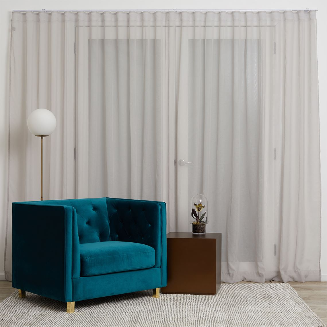 Mineral S-Fold Curtain Size W 485cm x D 1cm x H 280cm in Silver 100% Polyester Freedom by Freedom, a Curtains for sale on Style Sourcebook