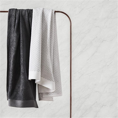 Home Republic Navara Cotton Bamboo Towels Bath Towel Solid Coal - Solidcoal By Adairs by Adairs, a Towels & Washcloths for sale on Style Sourcebook