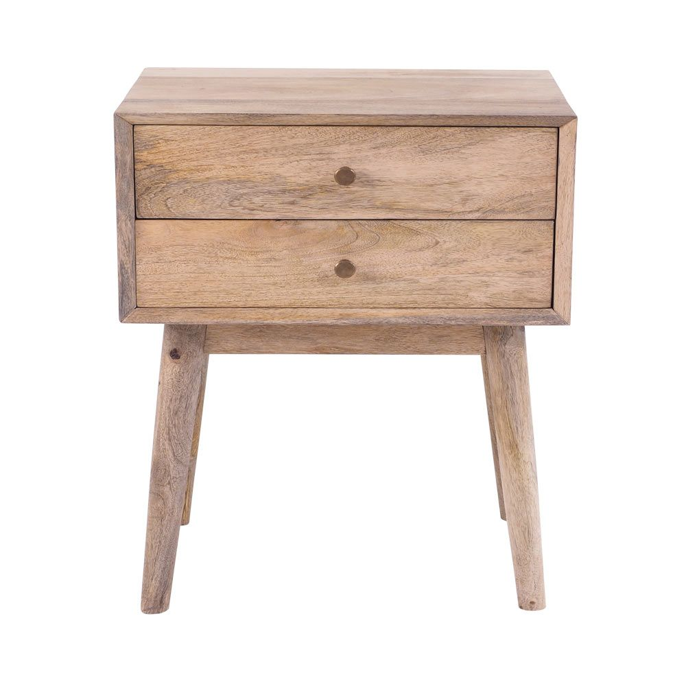 Hopper Midcentury 2 Drawer Side Table by Early Settler, a Bedside Tables for sale on Style Sourcebook
