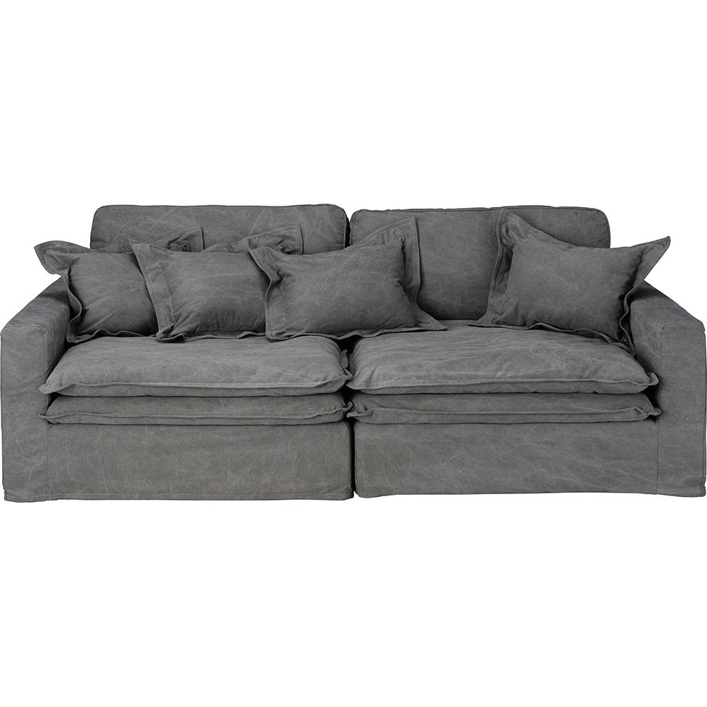 Slouch Sofa Vintage Grey Cotton by Early Settler, a Sofas for sale on Style Sourcebook