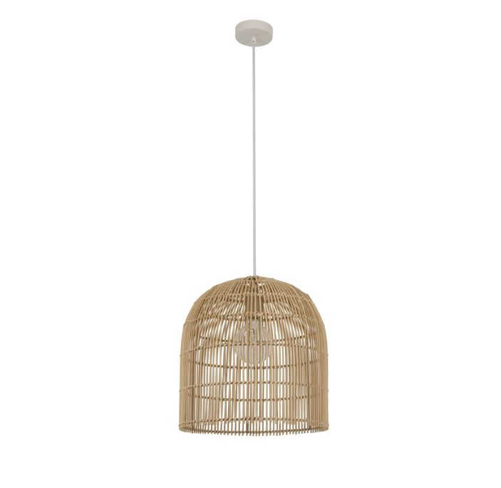 Herman 1 Light 350mm Tall Pendant in Natural by Beacon Lighting, a Pendant Lighting for sale on Style Sourcebook