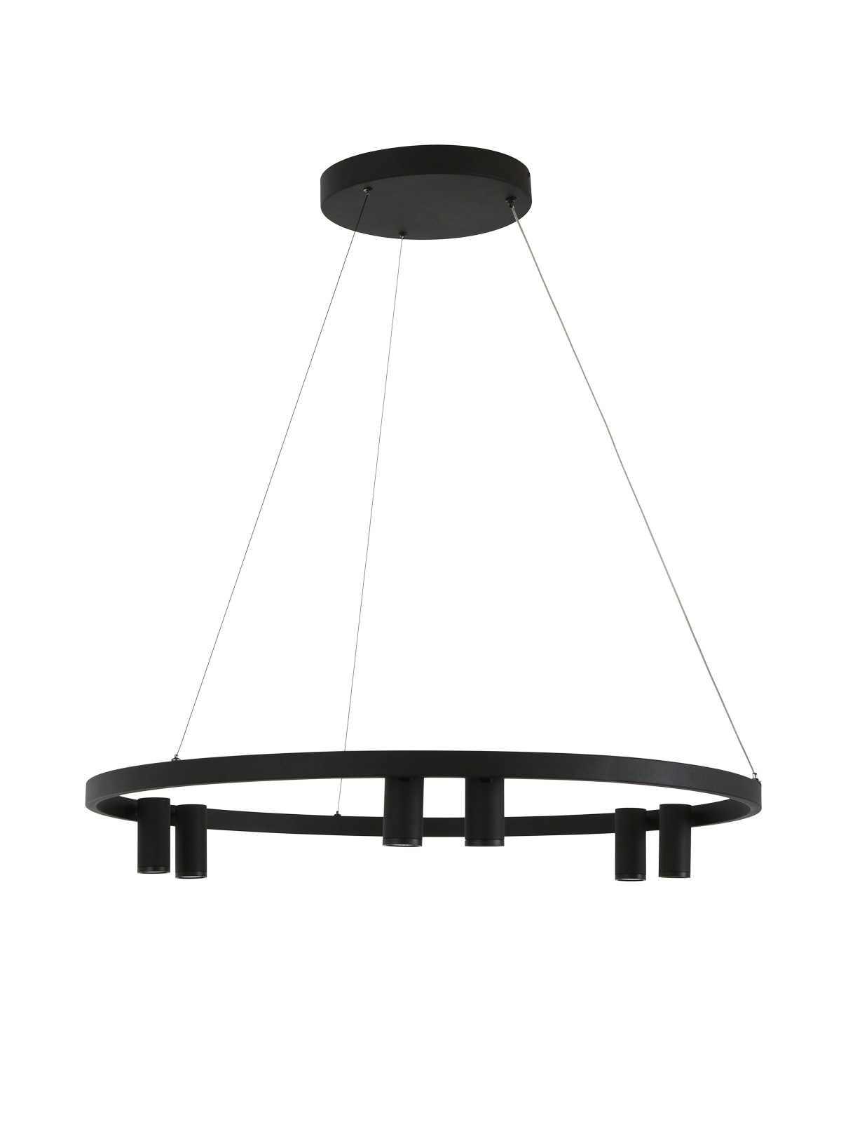 LEDlux Panorama 6 Light Round LED Pendant in Black by Beacon Lighting, a Pendant Lighting for sale on Style Sourcebook