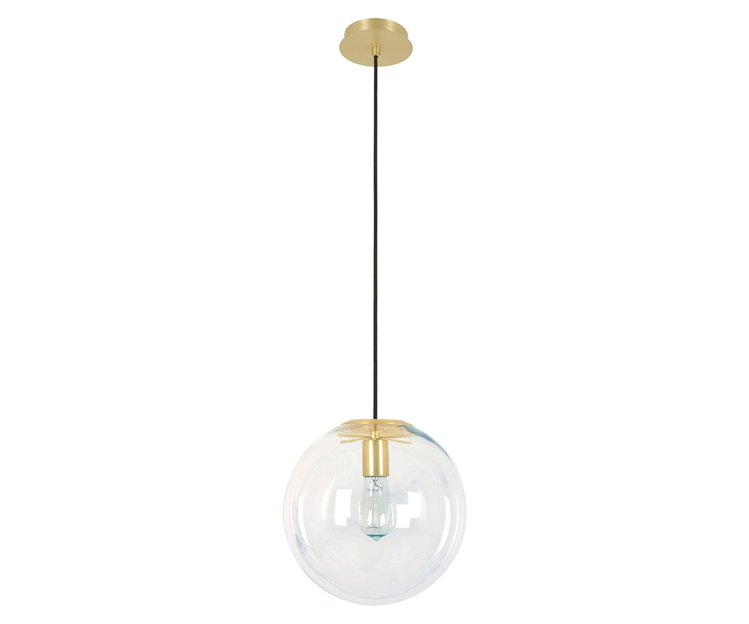 Marcel 300mm Pendant in Clear/Brass by Beacon Lighting, a Pendant Lighting for sale on Style Sourcebook