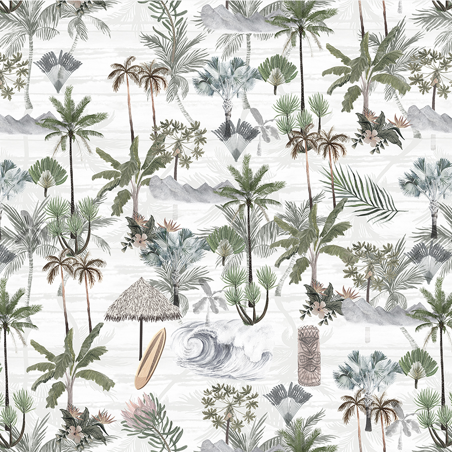 Hawaiian Days Wallpaper by Boho Art & Styling, a Wallpaper for sale on Style Sourcebook