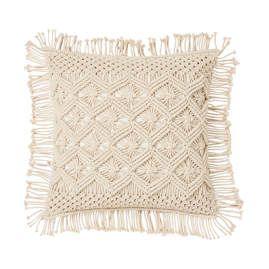 San Rem Macrame Cushion by Adairs, a Cushions, Decorative Pillows for sale on Style Sourcebook