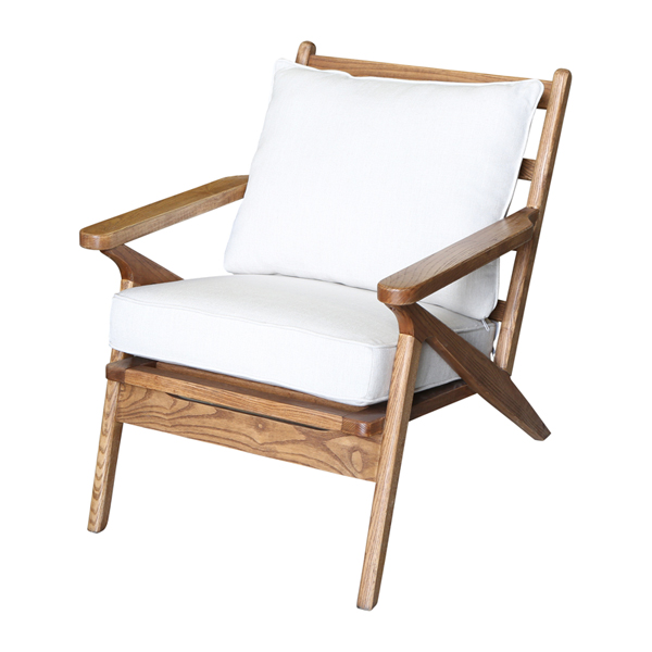 Ash Wood Chair W/White Cushions by OneWorld Collection, a Chairs for sale on Style Sourcebook