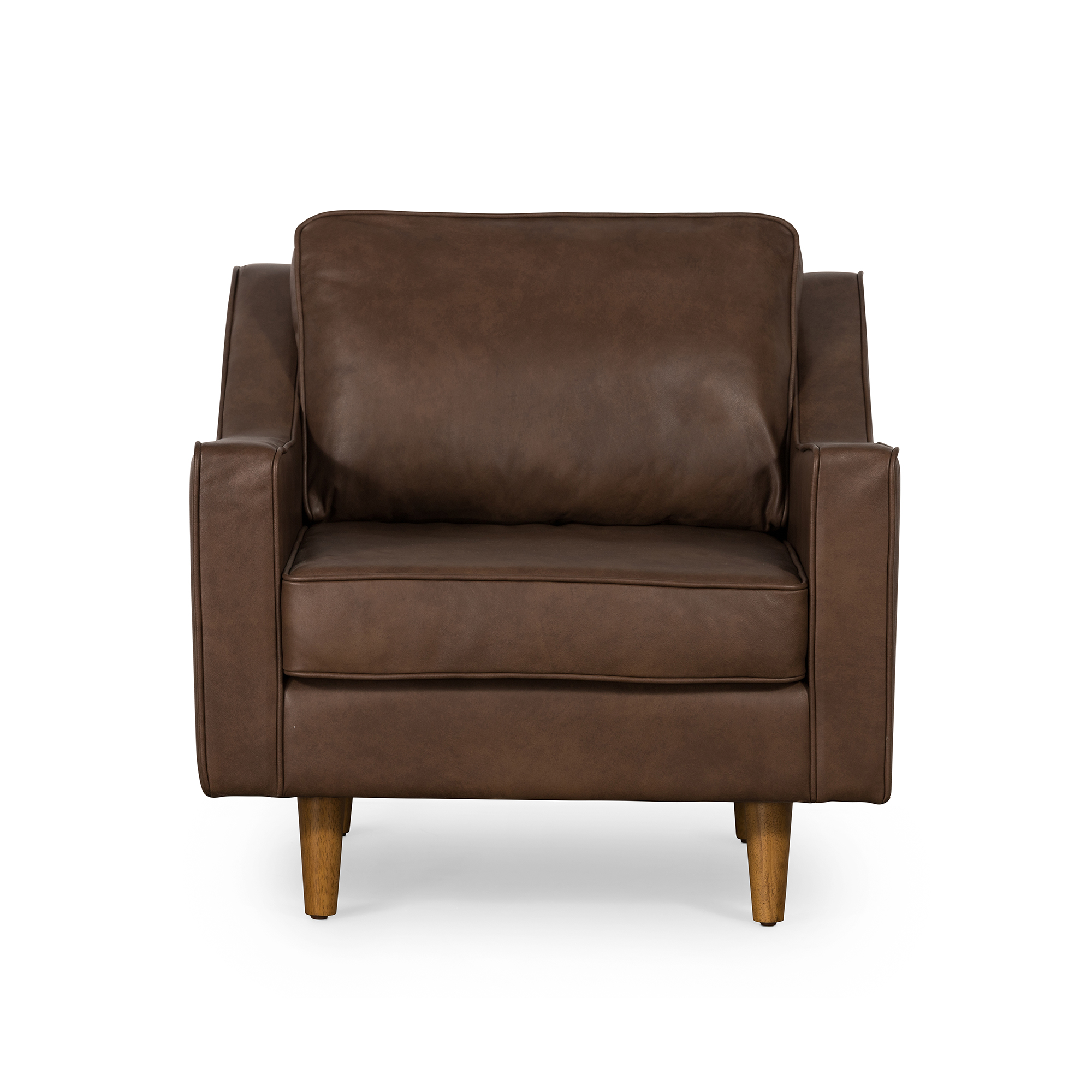 Taylor Armchair In Brown Leather by OneWorld Collection, a Chairs for sale on Style Sourcebook