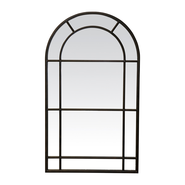 Medium Iron Arched Mirror Black by OneWorld Collection, a Mirrors for sale on Style Sourcebook