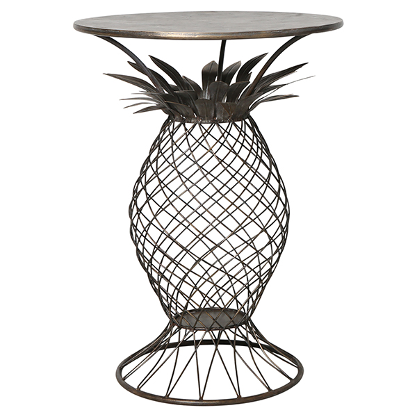 Iron Pineapple Side Table by OneWorld Collection, a Side Table for sale on Style Sourcebook