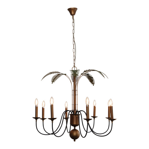Palm Leaves Chandelier by OneWorld Collection, a Chandeliers for sale on Style Sourcebook