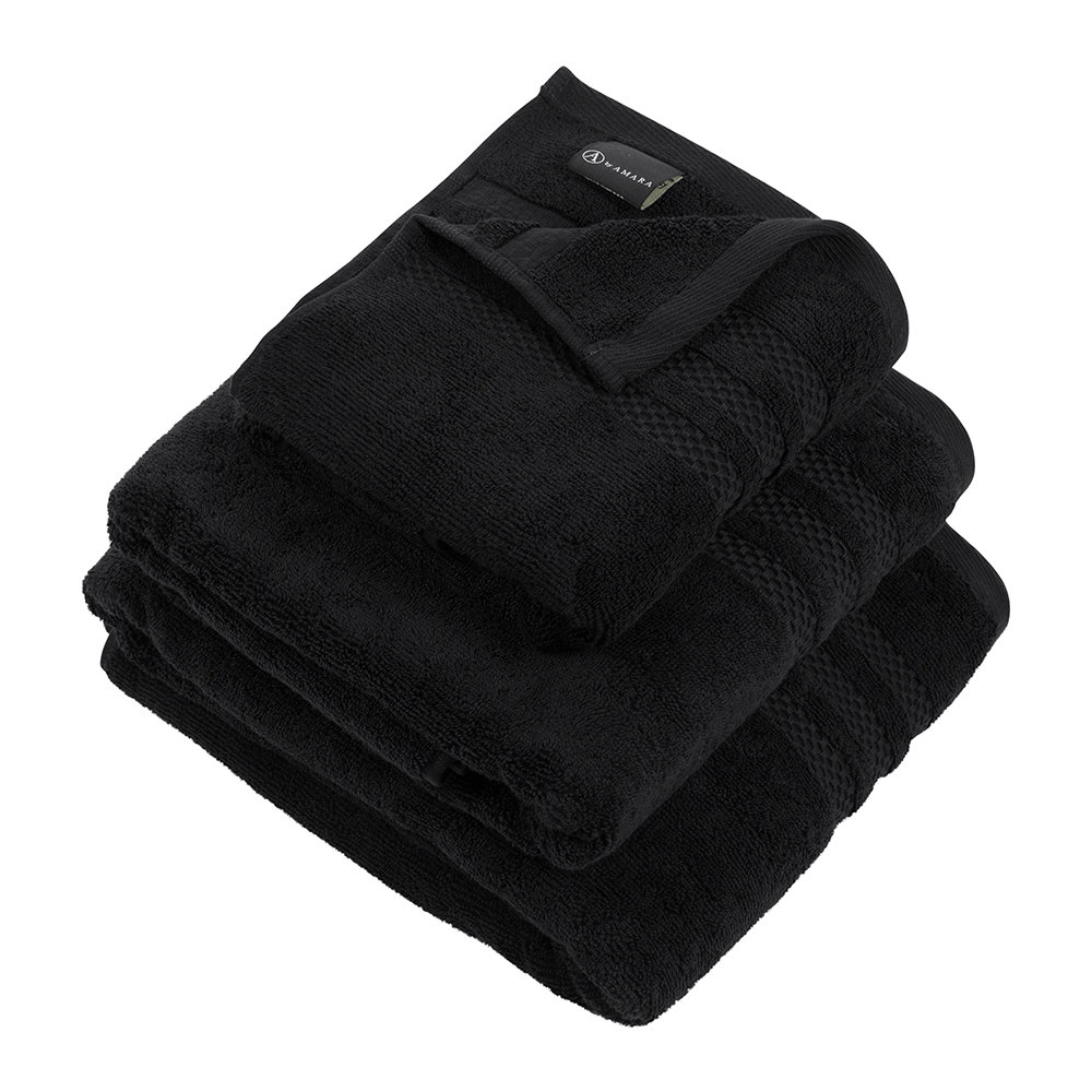 A by AMARA - Egyptian Cotton Towel - Black - Bath Towel by A by Amara, a Towels & Washcloths for sale on Style Sourcebook