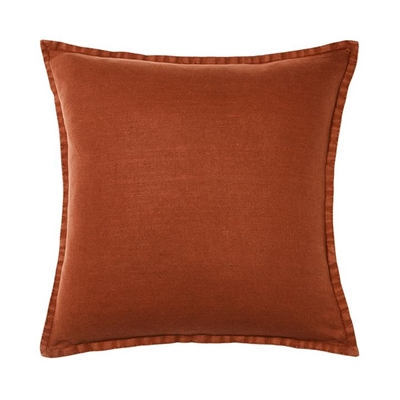 Home Republic Belgian Vintage Washed Rust Cushion 50cm x 50cm By Adairs by Adairs, a Cushions, Decorative Pillows for sale on Style Sourcebook