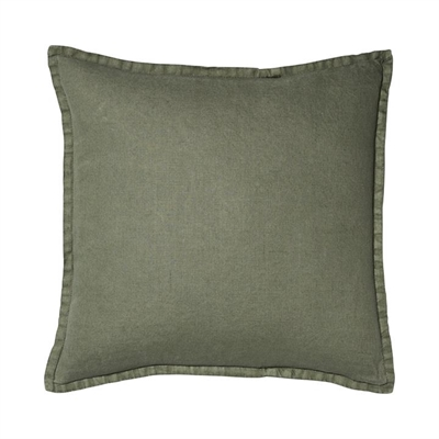 Home Republic Belgian Vintage Washed Linen Cushion 50x50cm Forest By Adairs by Home Republic, a Cushions, Decorative Pillows for sale on Style Sourcebook
