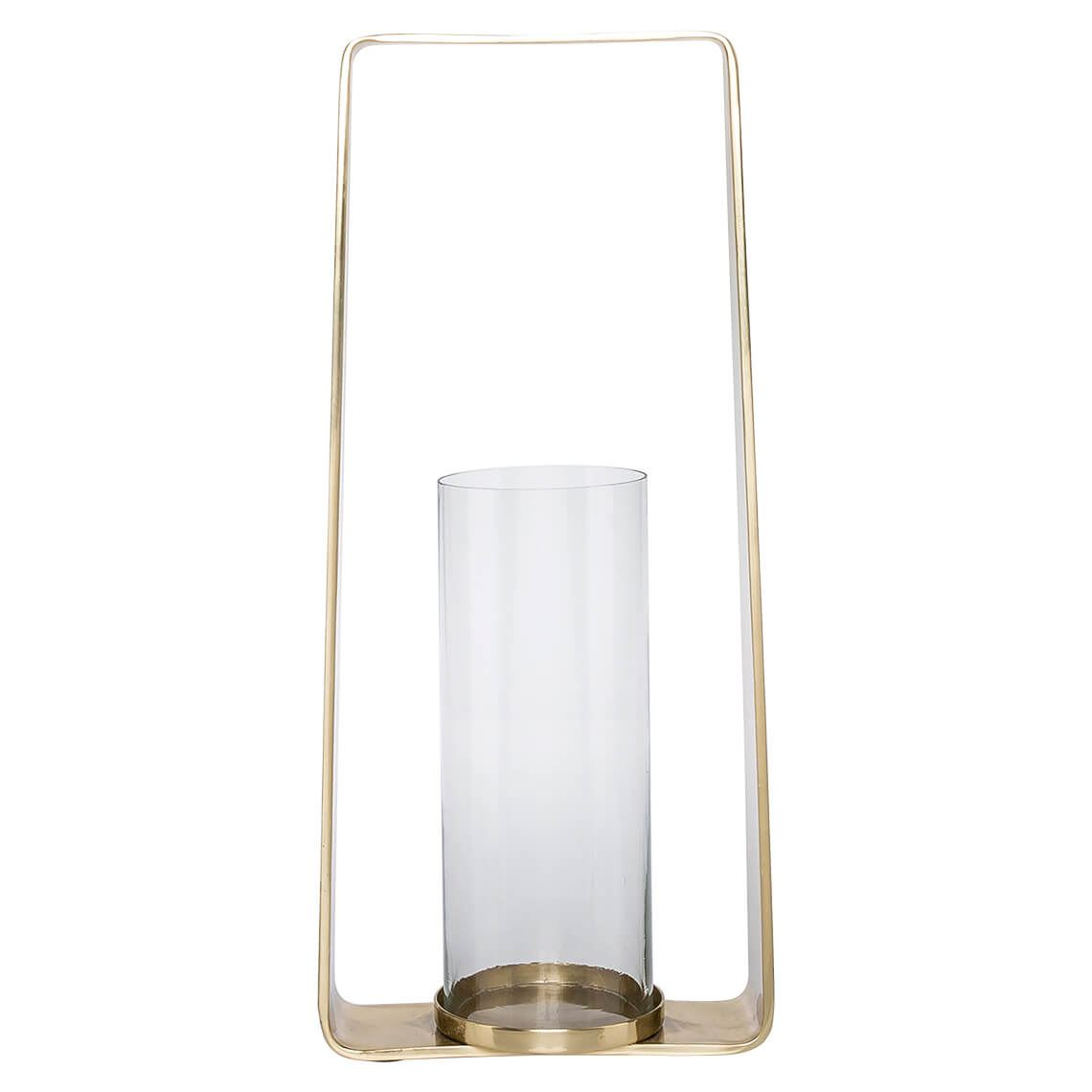 Cankiri Large Candle Holder, Colour Size W 22cm x D 11cm x H 48cm in Gold Aluminium/Glass Freedom by Freedom, a Plants for sale on Style Sourcebook