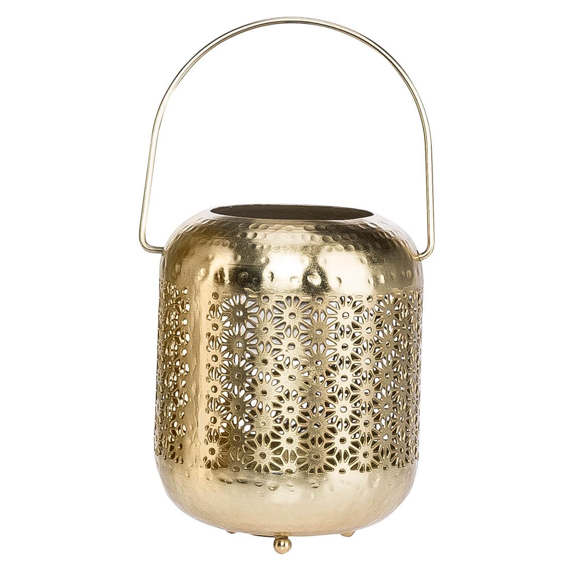 Hira Candle Holder, Colour Size W 13cm x D 13cm x H 17cm in Gold Mild Steel Freedom by Freedom, a Plants for sale on Style Sourcebook