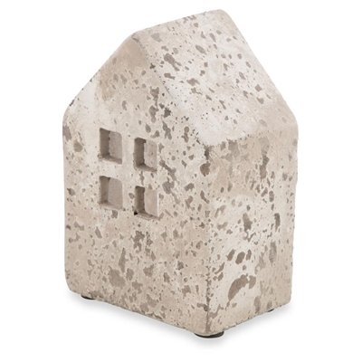 Square Cement House Candle Holder Small by April & Oak, a Candle Holders for sale on Style Sourcebook