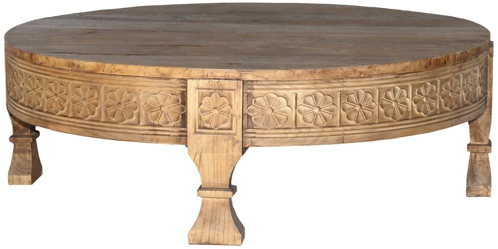 Carved Round Coffee Table by Bisque, a Coffee Table for sale on Style Sourcebook