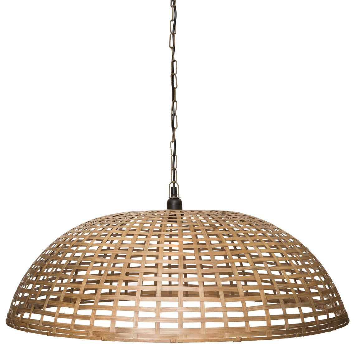 Dome Basket Ceiling Pendant Light Size W 80cm x D 80cm x H 26cm in Bamboo Flat Sheet/Metal Wire/Bamboo Freedom by Freedom, a Pendant Lighting for sale on Style Sourcebook