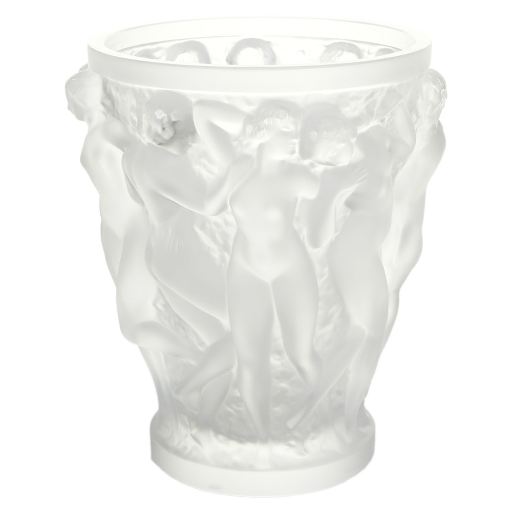 Lalique - Bacchantes Crystal Vase - Clear - Large
