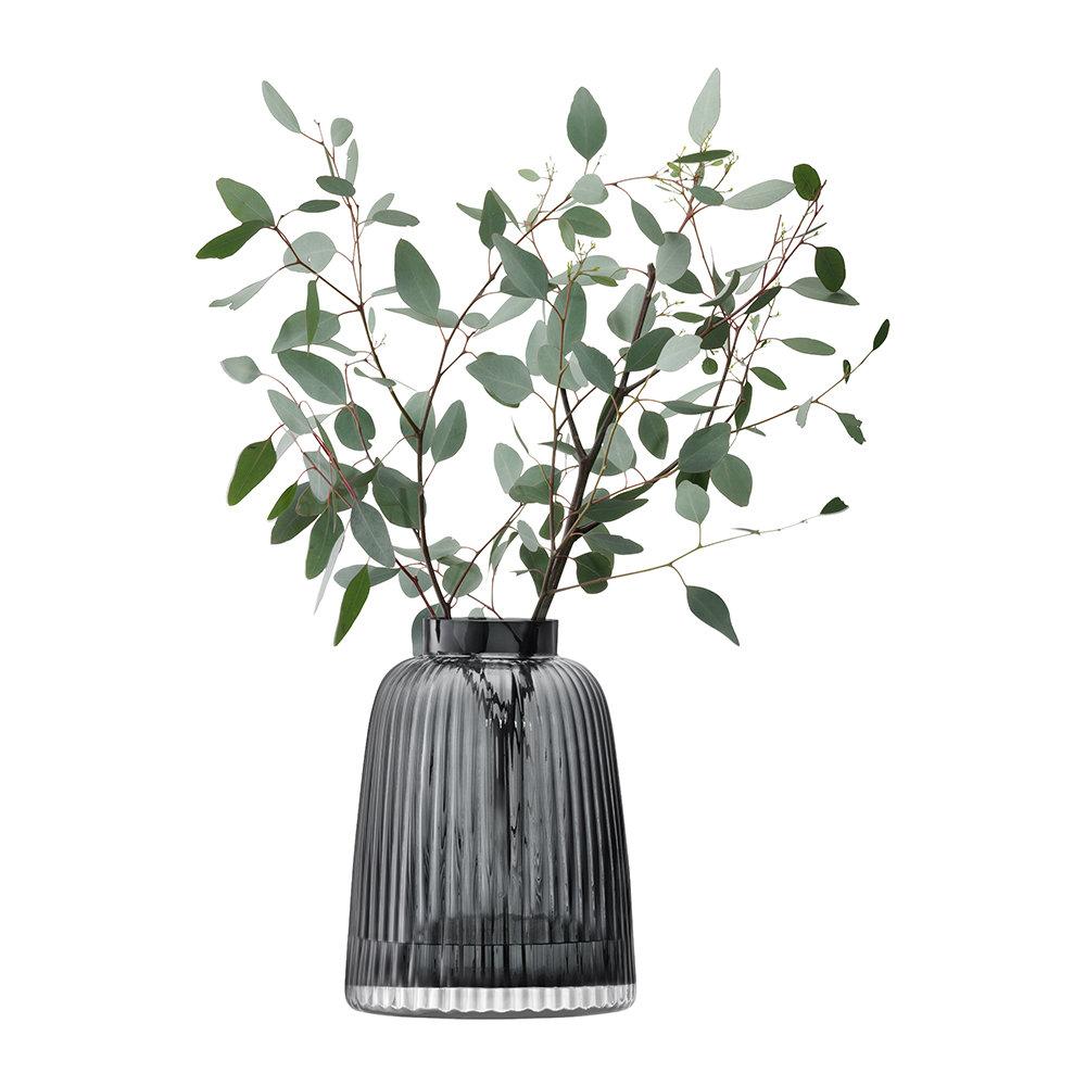 LSA International - Pleat Vase - Grey - 26cm by LSA International, a Vases & Jars for sale on Style Sourcebook