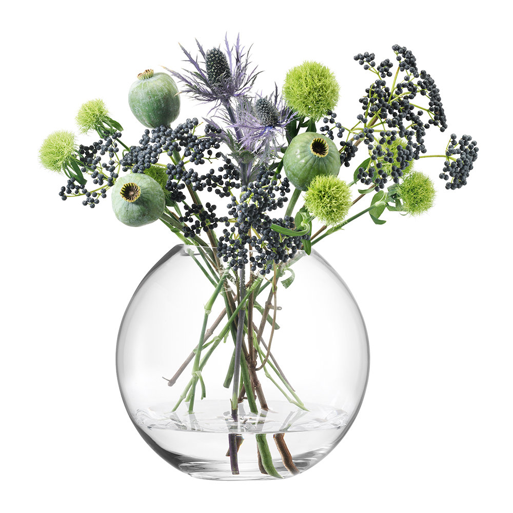 LSA International - Globe Vase - Clear - 24cm by LSA International, a Vases & Jars for sale on Style Sourcebook