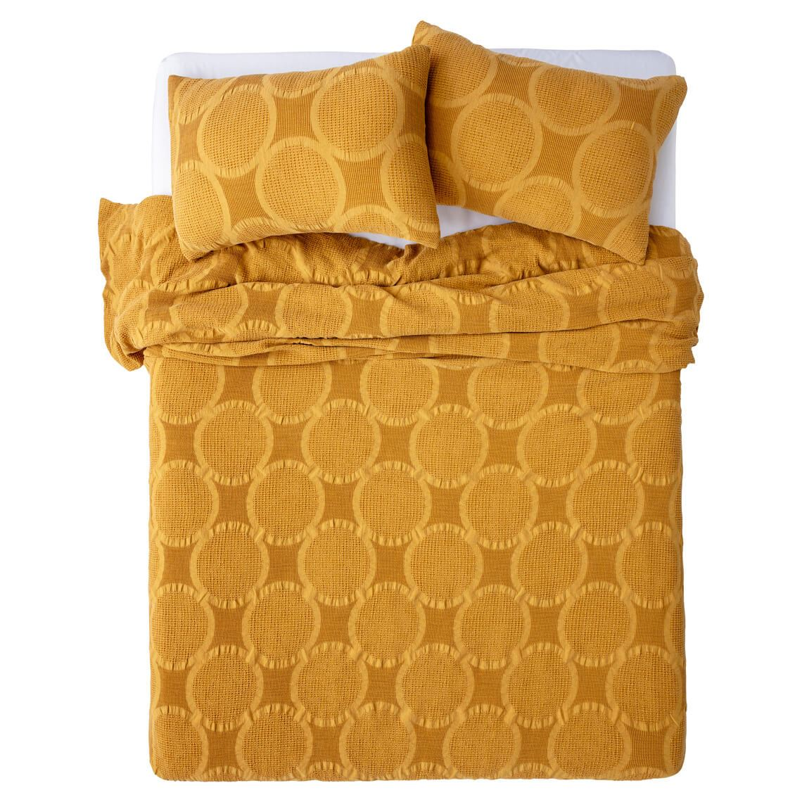 Soleil Quilt Cover Set Queen Size W 25cm x D 7cm x H 34cm in Mustard 100% Cotton Freedom by Freedom, a Quilts & Bedspreads for sale on Style Sourcebook
