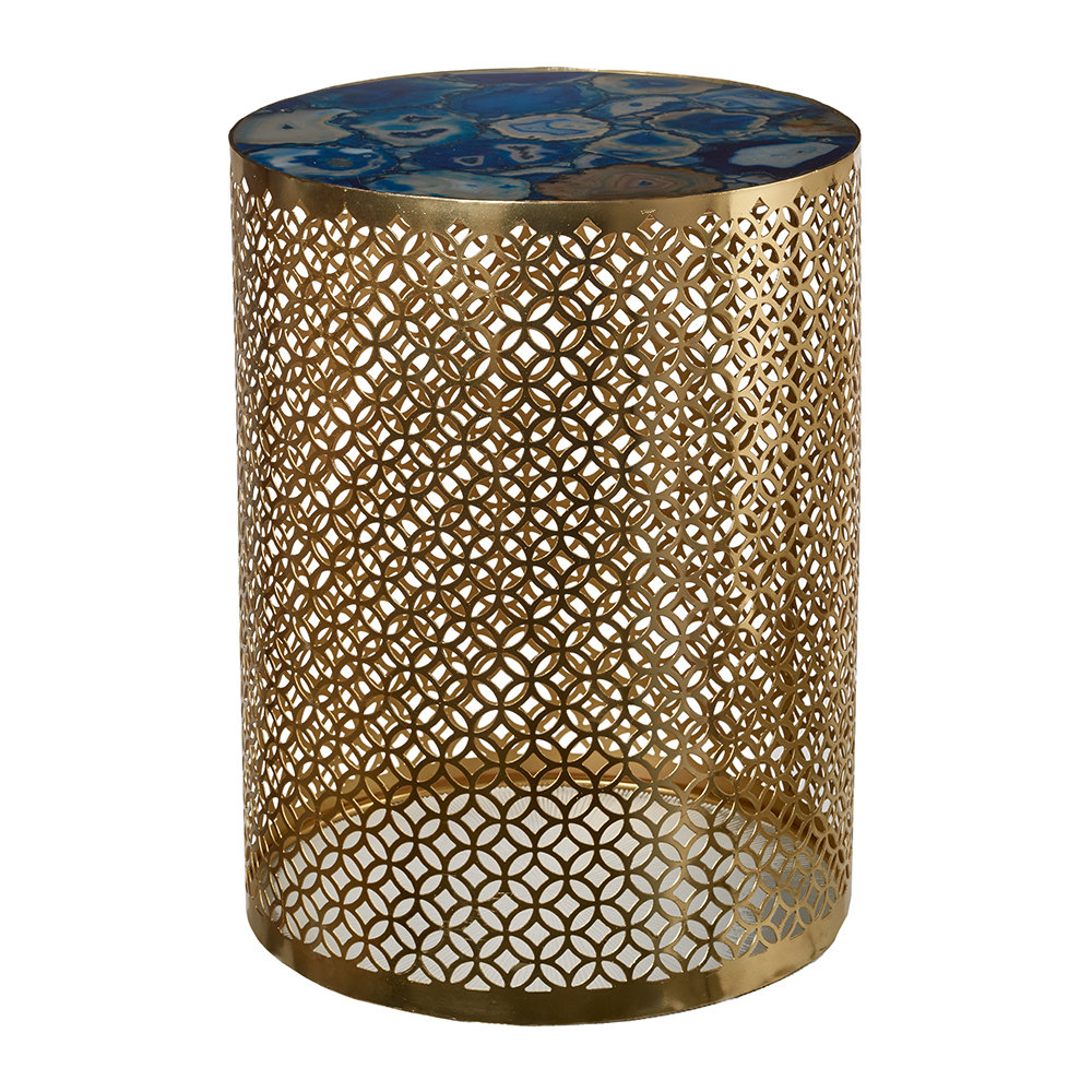 Pols Potten - Semi Precious Stone Side Table - Blue/Gold by Pols Potten, a Side Table for sale on Style Sourcebook