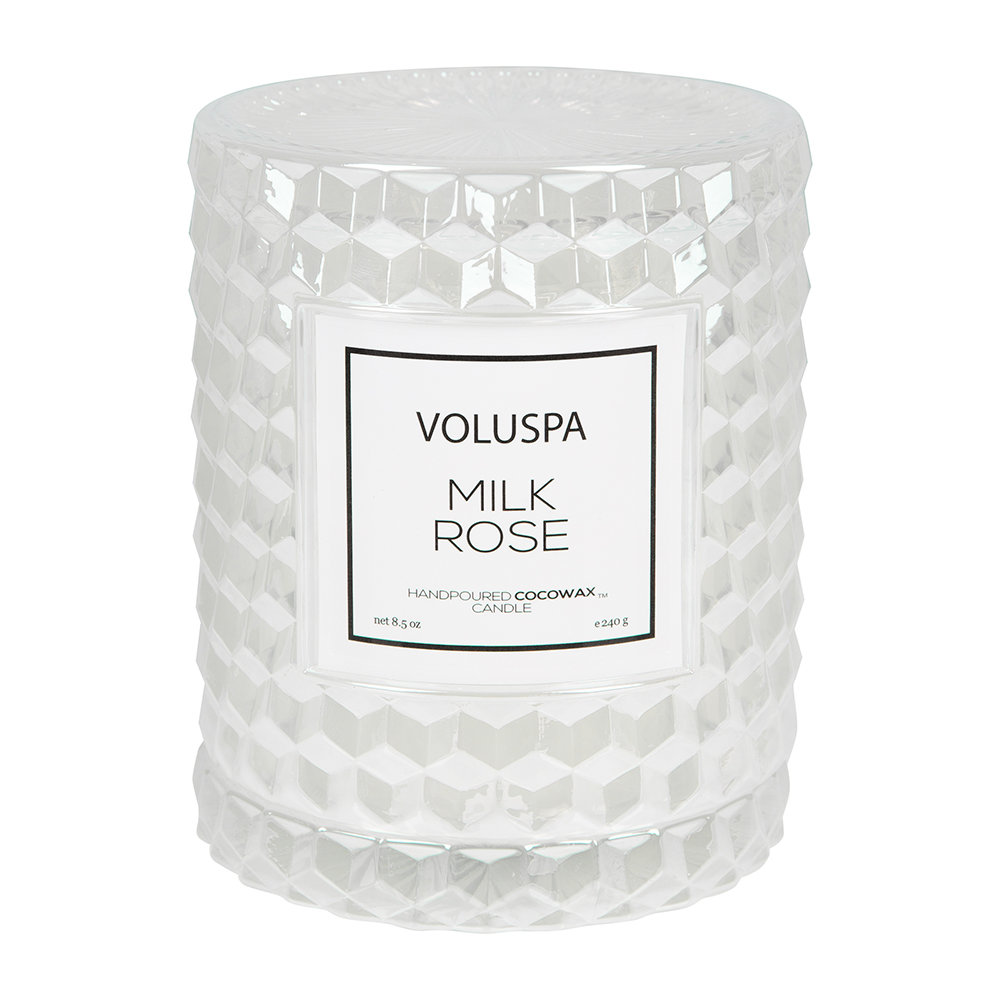Voluspa - Roses Icon Candle - Milk Rose - 240g by Voluspa, a Candles for sale on Style Sourcebook