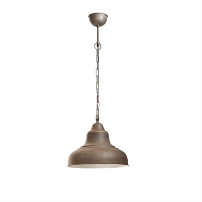 Brasserie Small Enamel Pendant Light - Rust by Emac & Lawton, a Pendant Lighting for sale on Style Sourcebook