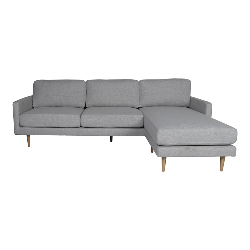 Boden 3 Seater Chaise Sofa Grey Marle