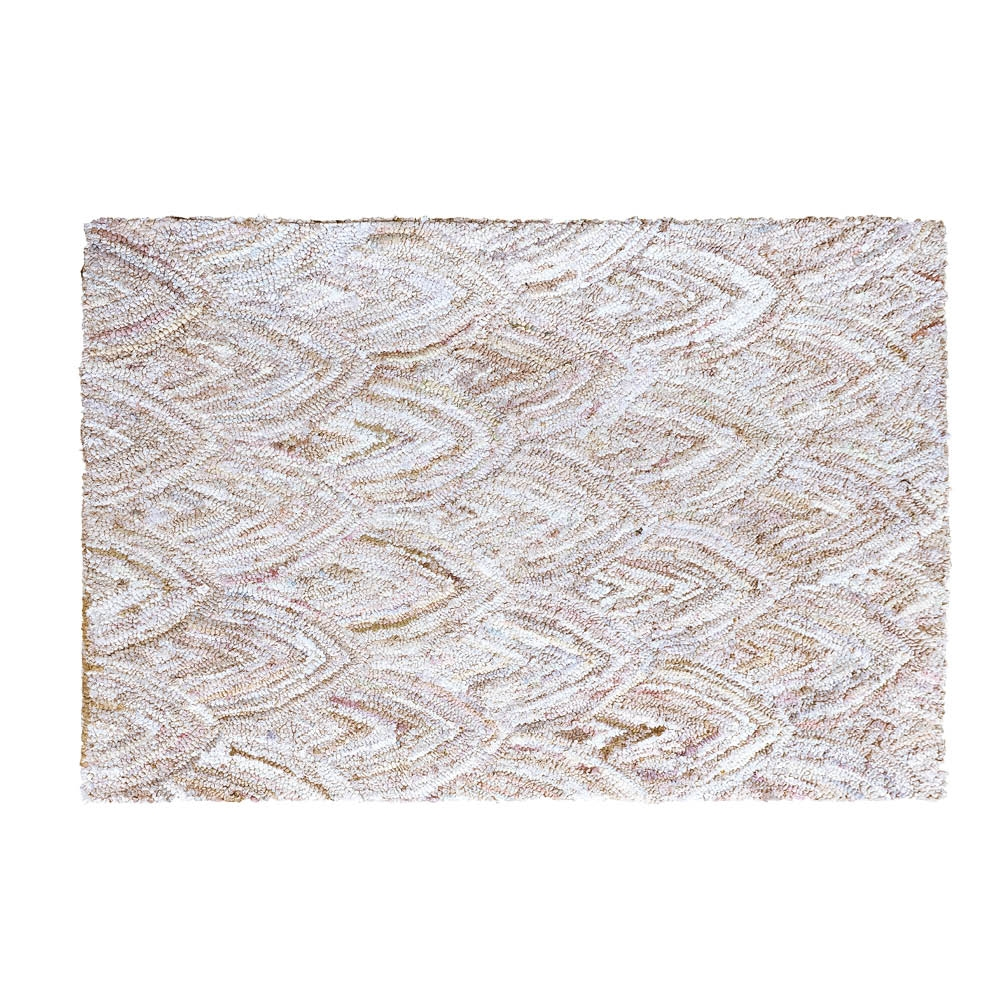 Boho Hand Tufted Rag Cream Rug 120 x 180 cm by Early Settler, a Contemporary Rugs for sale on Style Sourcebook