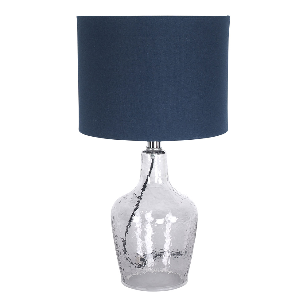 Cadence Blue Glass Table Lamp 47cm by Early Settler, a Table & Bedside Lamps for sale on Style Sourcebook