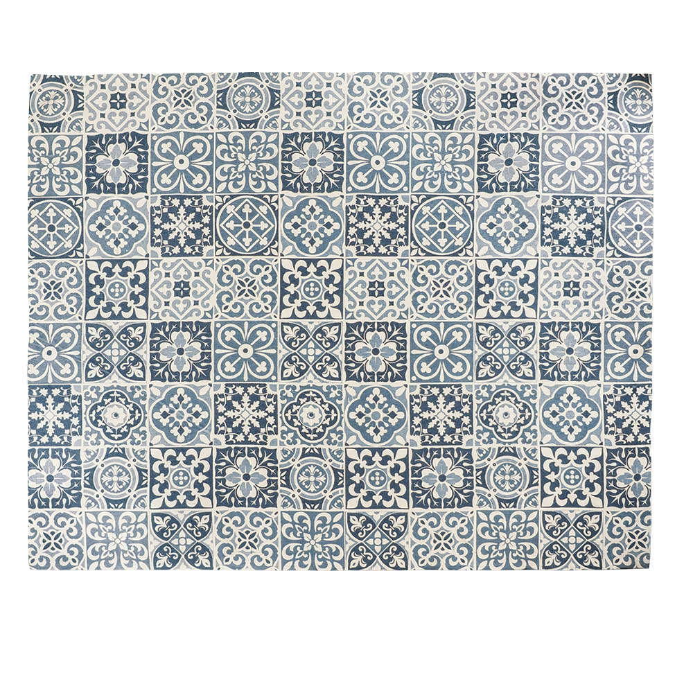 Carrelage Blue Tile Hand Woven Rug 240 X 300 Cm by Early Settler, a Contemporary Rugs for sale on Style Sourcebook