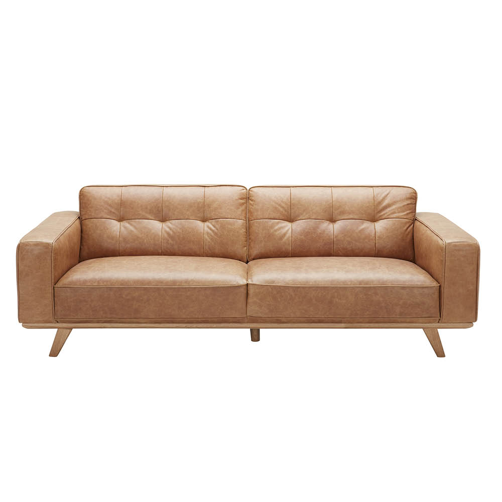 Carson Leather 3 Seater Sofa Vintage Brown by Early Settler, a Sofas for sale on Style Sourcebook