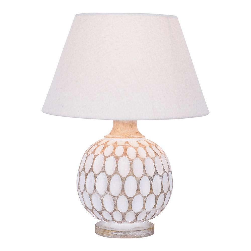 Caspar Wooden Table Lamp 36cm by Early Settler, a Table & Bedside Lamps for sale on Style Sourcebook