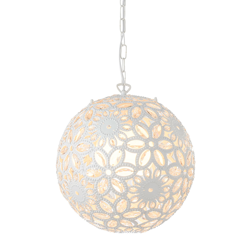 Celestine Floral Pendant White by Early Settler, a Pendant Lighting for sale on Style Sourcebook