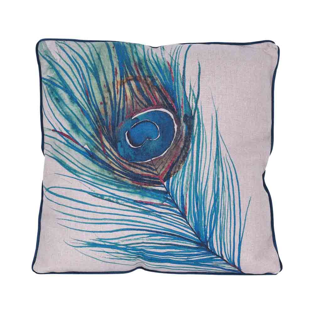 Cervino Peacock Cushion 50x50CM by Early Settler, a Cushions, Decorative Pillows for sale on Style Sourcebook