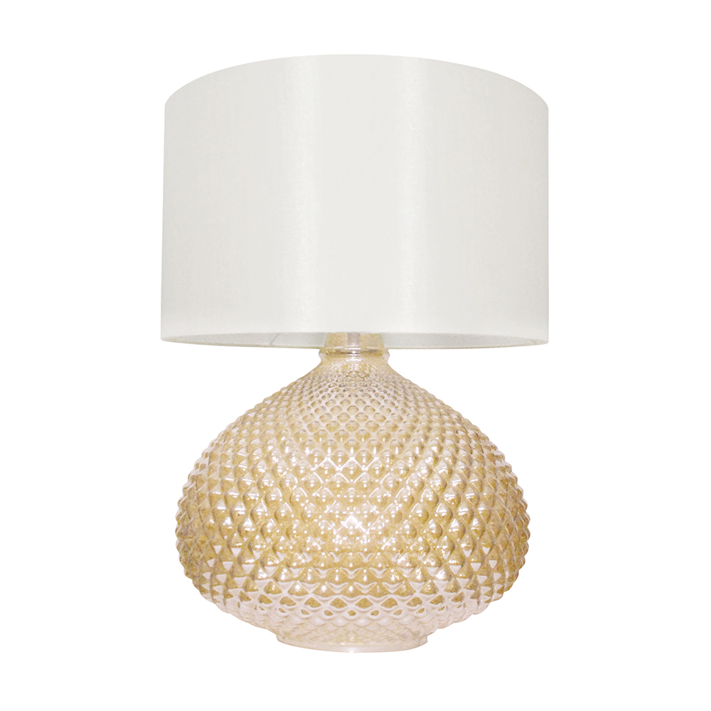 Champagne on Ice Glass Table Lamp 45cm by Early Settler, a Table & Bedside Lamps for sale on Style Sourcebook