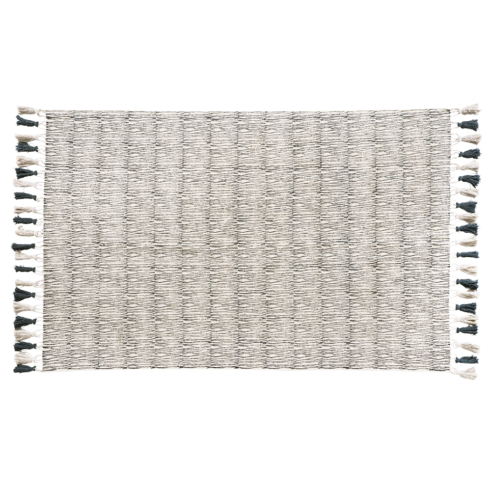Chirala Bark Hand Blocked Natural & Charcoal Cotton Rug 150 x 240 by Early Settler, a Contemporary Rugs for sale on Style Sourcebook