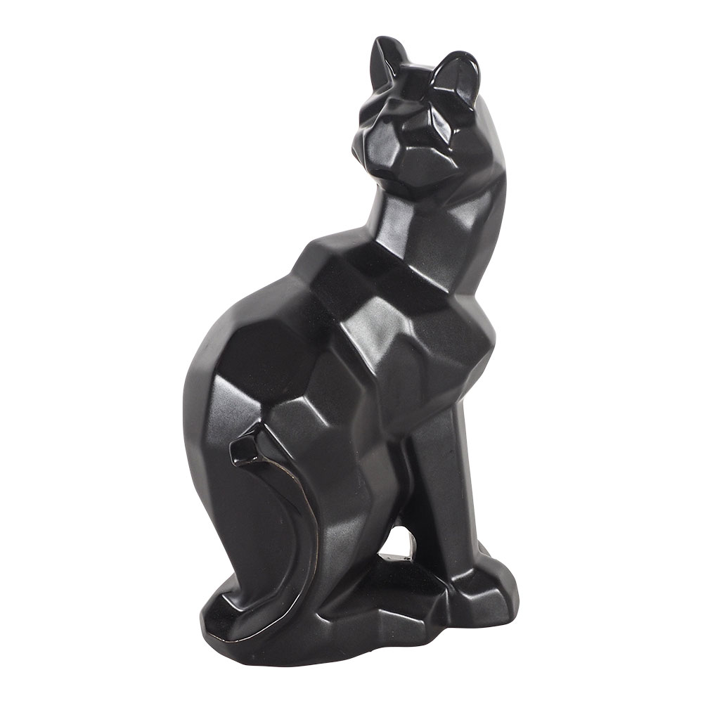 Cora Cat Black 14.5x9.5x25 Cm by Early Settler, a Statues & Ornaments for sale on Style Sourcebook