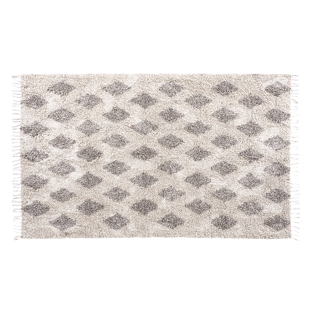 Cordoba Diamond Hand Woven Taupe & Cream Cotton Rug 150 x 240cm by Early Settler, a Contemporary Rugs for sale on Style Sourcebook