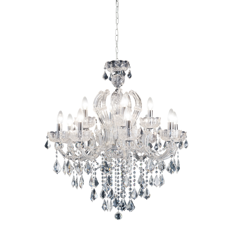 Crystal 12 Light Chandelier by Early Settler, a Chandeliers for sale on Style Sourcebook
