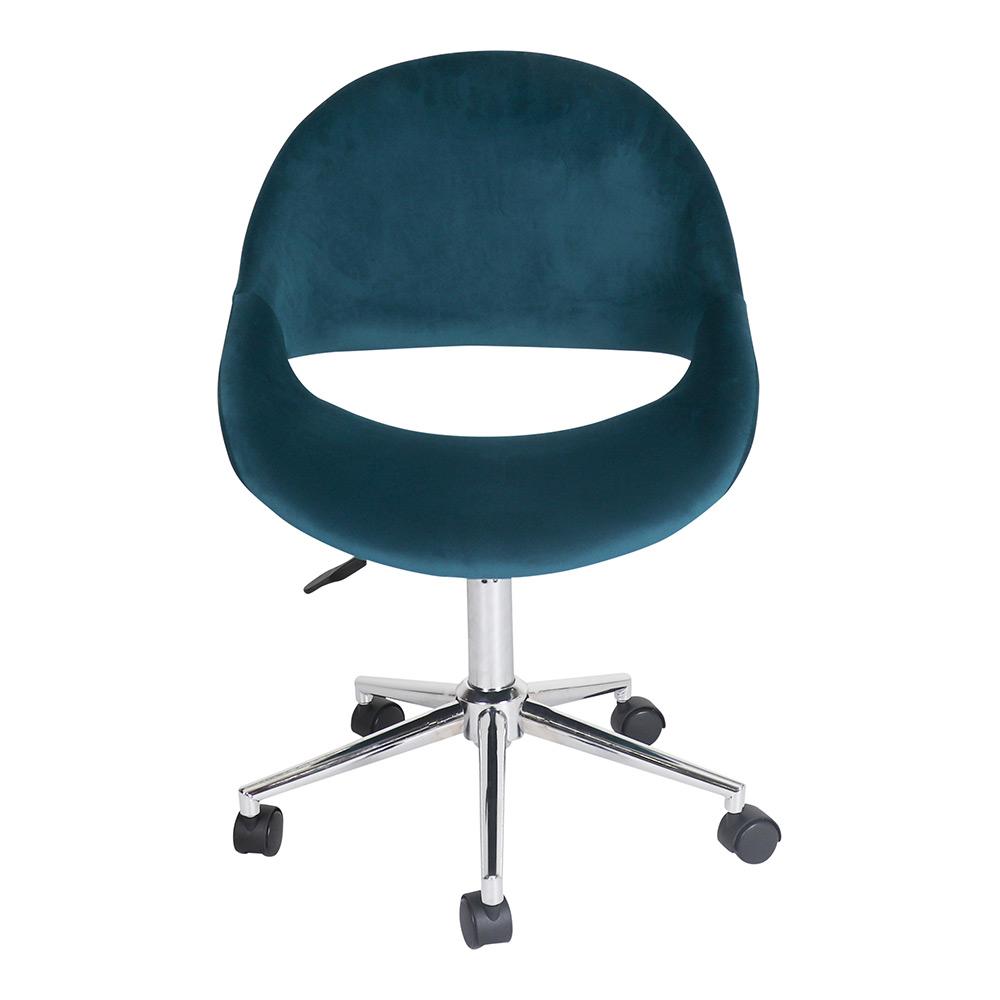 Kip Swivel Desk Chair Peackock Velvet by Early Settler, a Throws for sale on Style Sourcebook
