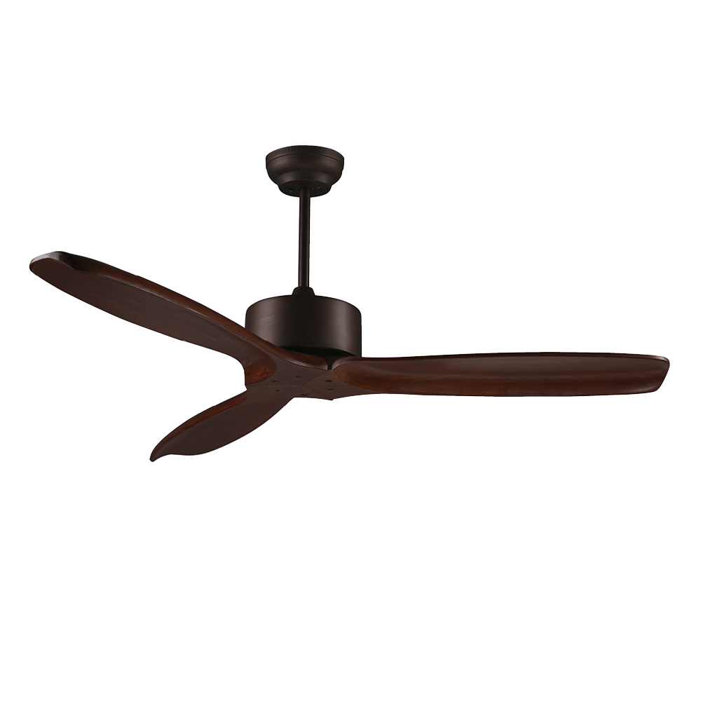 Madeira DC Fan Mahogany Colour Timber Blades 132cm (Incl Remote) by Early Settler, a Ceiling Fans for sale on Style Sourcebook