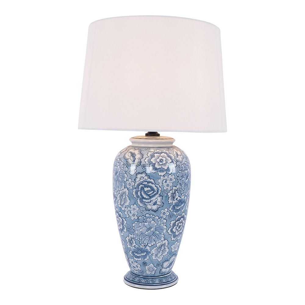Rose Bush Ceramic Jar Table Lamp 67cm by Early Settler, a Table & Bedside Lamps for sale on Style Sourcebook