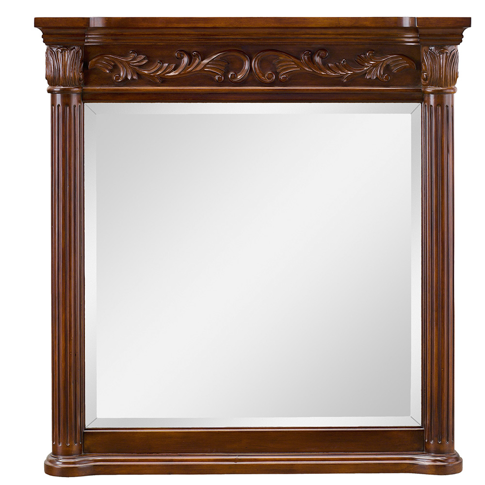 Rosette Vanity Mirror Mahogany 915mm by Early Settler, a Mirrors for sale on Style Sourcebook