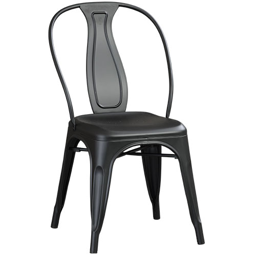 Salvage Chair Matt Black by Early Settler, a Side Table for sale on Style Sourcebook